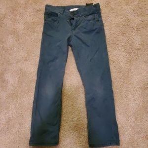 Dark teal skinny pants